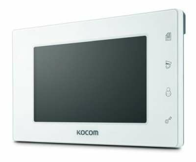 """Kocom 7"""" Handsfree additional monitor for KCV-D504, 4 wire system white"""