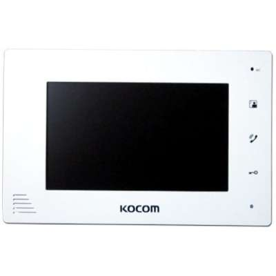 "Kocom 7"" Handsfree additional monitor for KCV-D374SD, 4 wire system White"
